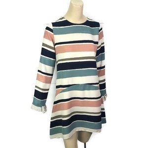 Zara Basic Collection Dress Striped Size Small